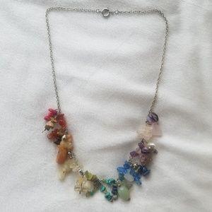 Natural gemstone chakra necklace